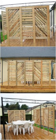 Next on our amazing repurposing ideas of wood pallet, we have the robust and much excellent designed fence design with the elegant furniture work over it. The fence creativity has been all put up in the standing position right into which wood is being carried out fantastically.