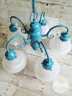Shade charms are magnetic lampshade ornaments that attach to most diy chandelier from an ugly light fixture this is so fabulous entirelyeventfulday aloadofball Choice Image