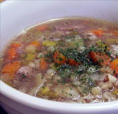 Scotch Broth from Food.com. This recipe comes from The Gourmet Slow Cooker by Lynn Alley. Scotch Broth is a Scottish tradition that dates bake hundreds of years. This dish has plenty of substance and flavor. Cooking it in the crockpot makes it so easy to have dinner ready in no time. It is suggested that this be served with a Scotch beer or ale and some heavy crusty bread.