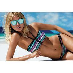 Jeder Bikini dieses Modelles ist ein Unikat, der Print verläuft immer unterschiedlich