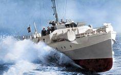 GERMAN E- BOAT A fast torpedoe patrol boat of the Kriegsmarine, or German Navy, WW2.