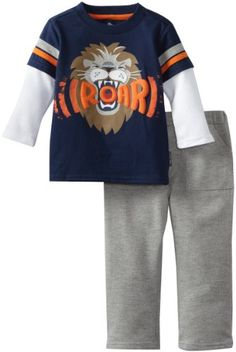 Two Piece Lion Roar Pullover And Pant Set