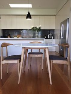 Dining setting four piece chairs and table  Scandi  Hans Wegner  NEW Replica Eames yellow dining chairs x 4   Dining Chairs   Gumtree  . Dining Chairs Gumtree. Home Design Ideas