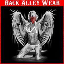 Marilyn Monroe Winged Angel Gangster Ladies Junior S-3X Shirt Bikini Guns SEXY