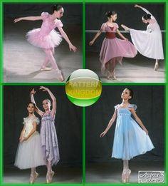 Simplicity 5136 Girls Ballet Dance Costume Patterns Dress Tutu