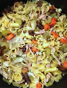 EASY! Rotisserie Chicken Noodle Soup Reluctant Entertainer.com