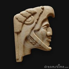 Stone head of warrior carving latin america. Stone head of mayan aztec warrior c , Aztec Statues, Mayan Tattoos, Aztec Culture, Aztec Warrior, Inka, Aztec Art, Mesoamerican, Chicano Art, Ancient Aliens