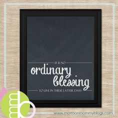 It is no ordinary blessing Printable