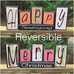 Reversible Holiday Blocks by JennysCreation6 on Etsy