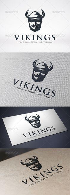 Viking Logo Design Template Vector #logotype Download it here: http://graphicriver.net/item/viking-logo-template/6582265?s_rank=784?ref=nesto