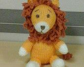 Knitted Lion Toy