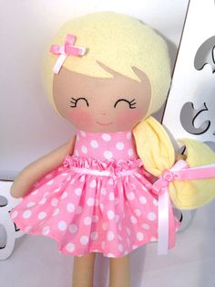 Cloth baby doll Handmade Dolls Fabric Dolls by SewManyPretties