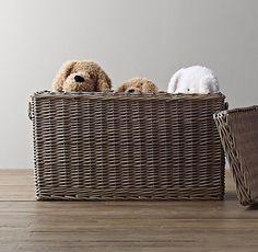 Normandy Wicker Rectangular Toy Box | Woven Storage & Liners | Restoration Hardware Baby & Child
