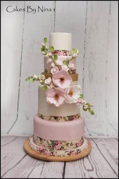 Rosealyn by Cakes by Nina Camberley - Wedding cake