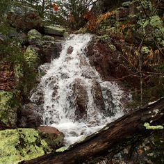 Water fall on the Taum Sauk Section of the Ozark Trail from Hwy A to Goggins on a rainy day in January 2015.