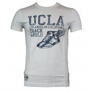 UCLA Tyler Trainer Mens T-Shirt in White. For exclusive designer fashion at affordable prices visit www.hypedirect.com   #bensherman #designer #fashion #apparel #menswear #mensstyle #style #UCLA #university #sportswear #giogoi #hunter #duck #jack #discount