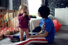 this is so adorable <3 Emo boy with his lil sis! I love it when boys are with little kids! <3