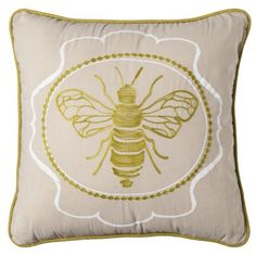 Threshold™ Embroidered Bee Decorative Pillow guest bedroom