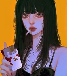 Dark Anime Girl, Kawaii Anime Girl, Manga Girl, Anime Art Girl, Cartoon Girl Images, Girl Cartoon, Cartoon Art, Digital Art Anime, Digital Art Girl