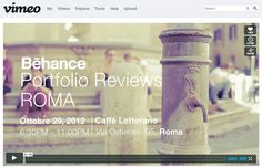 Watch this great promo video for the Rome event! https://vimeo.com/user11829640