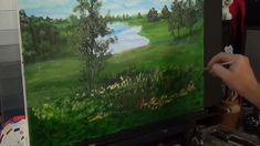 Morning Lake  Acrylic painting for beginners, Acrylic Landscape Painting...