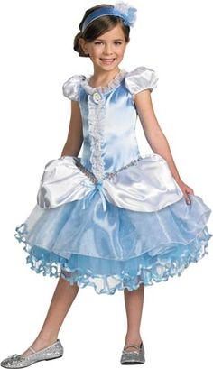 Cinderella costume for Halloween or Disney-themed birthday party.