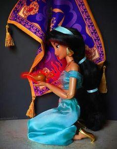 What if Jasmine had found the lamp first? Disney Baby Dolls, Disney Babys, Disney Princess Dolls, Disney Princess Dresses, Baby Disney, Disney Dream, Disney Love, Disney Art, Disney Pixar