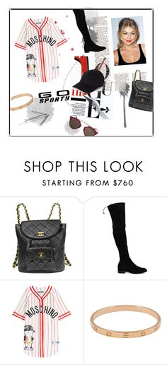 """""""Go Sporty With Gigi"""" by iris0504 on Polyvore featuring Chanel, Stuart Weitzman, Moschino, Cartier and Christian Dior"""