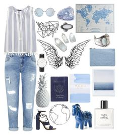 """""""Untitled #218"""" by music-girl32 ❤ liked on Polyvore featuring Miss Selfridge, Violeta by Mango, Pier 1 Imports, Schutz, Lazy Susan, Chanel, Bitossi, Color Me, Passport and Daniel Wellington"""