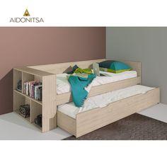 Κρεβάτι CITY2020 με ράφια και επιπλέον 1 συρτάρι κρεβάτι και 2 τάβλες, οι οποίες περιλαμβάνονται στη τιμή, 95,5x227,5x77. Χρώμα σκούρο Sonoma. Δέχεται στρώματα 90x200 (στρώματα δεν περιλαμβάνονται) Από την Alphab2b.gr Toddler Bed, Bedroom, Furniture, Home Decor, Child Bed, Decoration Home, Room Decor, Bedrooms, Home Furnishings