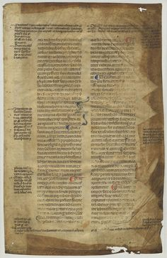 Verso of leaf from a c. 1300 glossed Codex Justinianus. Created in southern France (probably Avignon).  #miamioh #manuscripts