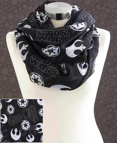 Star Wars Infinity Scarf Force Awakens Endless Loop Black White Toss Icons 35x34 #StarWars #Scarf