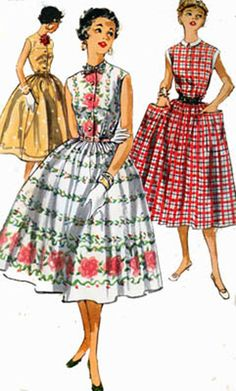 1950s Simplicity 1084 ROCKABILLY Sleeveless Dress by sandritocat, $16.00