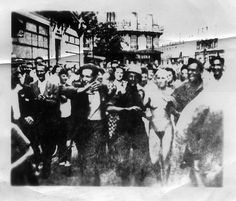 Woman Nazi Collaborator with Head Shaved Paraded Naked in Paris by Maine Transplant, via Flickr