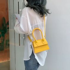 PU LEATHER SMALL CROSSBODY BAGS l the cute gift For christmas 2020 l Black Friday Sale! : jacquemus mini bag 2019 l jacquemus le chiquito l jacquemus le chiquito street style l Christmas 2020 Gifts l Hermes Handbags, Purses And Handbags, Jacquemus Bag, Photography Bags, Yellow Handbag, Designer Wallets, Small Crossbody Bag, Designing Women, Fashion Bags