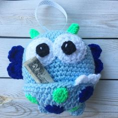 Another tooth fairy monster pillow complete  by rosebudjohnnies