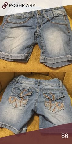 Denim shorts Nice denim shorts. Minor wear but still in good condition. Shorts Jean Shorts