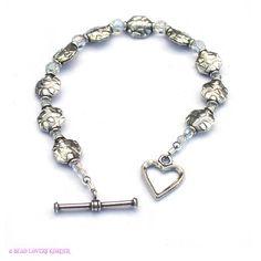 Sterling Silver Bracelet Swarovski Crystal by beadloverskorner