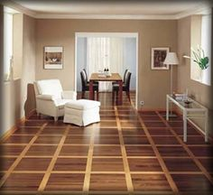 D Hardwood Laminate Flooring  That Pattern Makes The Room Look Larger Than  It Is