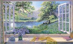 Premium Giclee Print: Bluebells Art Print by Stephen Darbishire by Stephen Darbishire : Illustrations, Illustration Art, Creation Photo, Summer Painting, Beach Landscape, Reproduction, Figure Painting, Find Art, Giclee Print