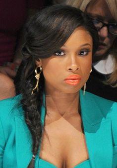 black women orange lipstick