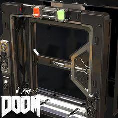 DOOM - Industrial Door , Jeremy Thurman on ArtStation at https://www.artstation.com/artwork/95APO