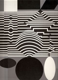 Victor Vasarely.  Go Through the Mirror.