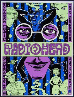 Ward Sutton. Rock Posters. Radiohead.