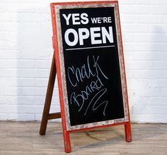 Sidewalk Chalkboard Open Sign