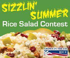 Enter the Sizzlin' Summer Rice Salad Contest today!! Share your best rice salad recipe to win!!