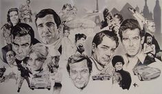 This how I pretty much show my appreciation for films that have greatly inspired me, by painting a huge tribute like this. I think there is a lot more to the Bond Films like any other great film or...