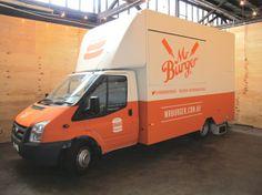 Mr Burger by Jakɇ Turnbull, via Behance Melbourne Food, Catering Food, Food Trucks, Food Festival, Vehicle, Behance, Van, Vans, Vehicles