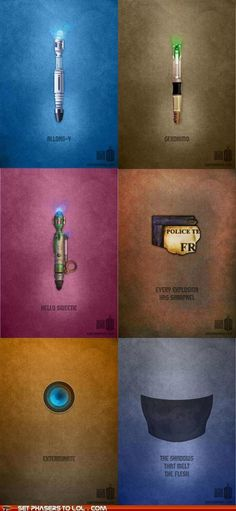 Minimalist Doctor Who Posters