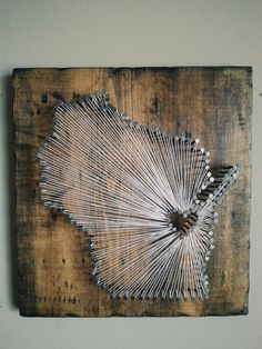 Wisconsin Rustic State String Art by witheyesunlocked on Etsy